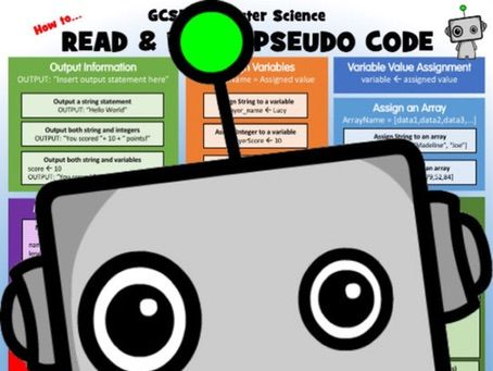 Computer Science Poster: how to read and write pseudo code