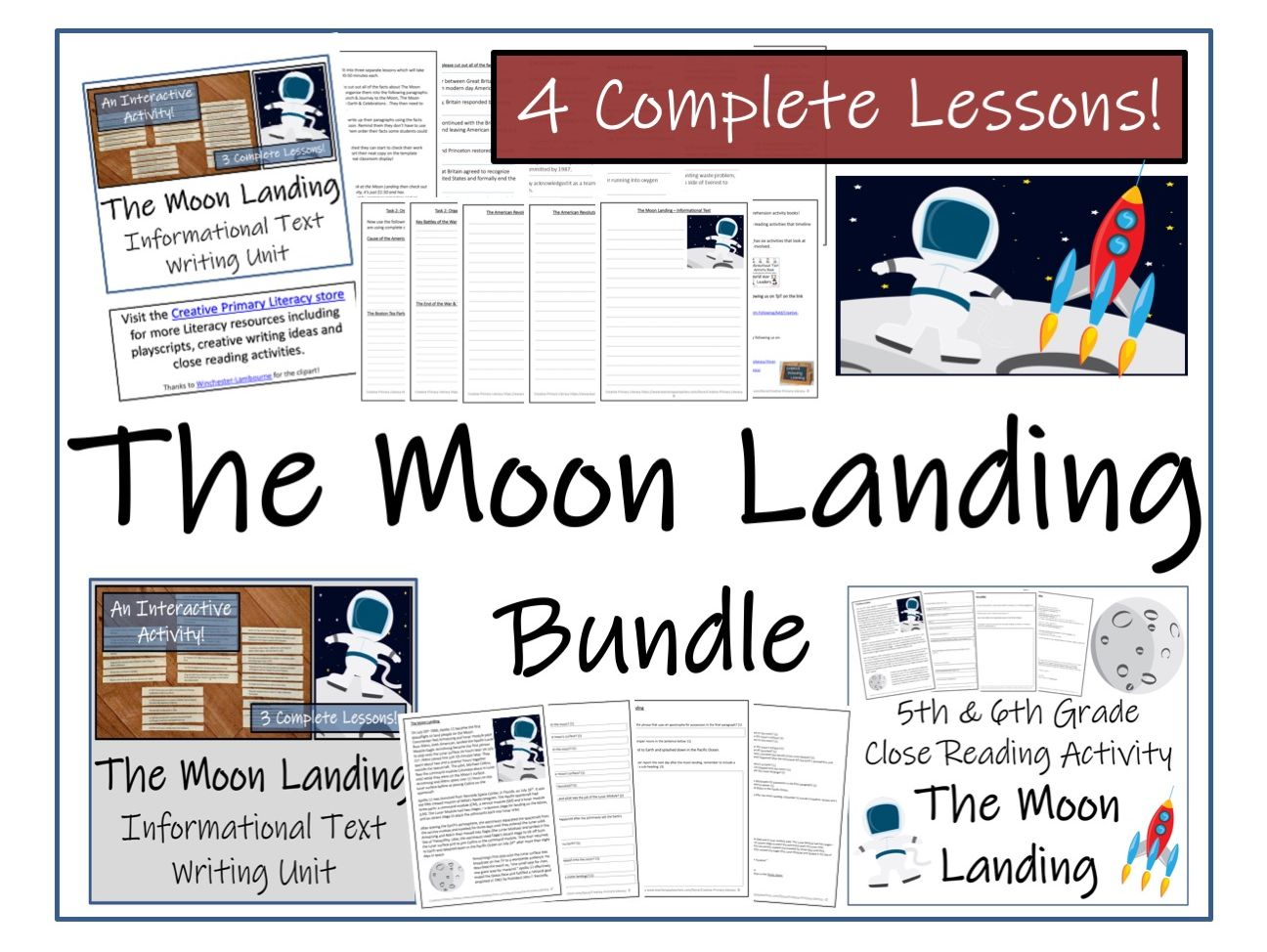 UKS2 History - Bundle of Moon Landing  Activities