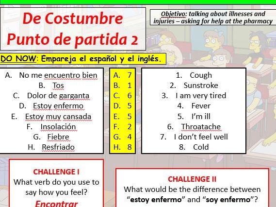 COMPLETE VIVA GCSE FOUNDATION module 6 - DE COSTUMBRE - PUNTO DE PARTIDA 2 pptx