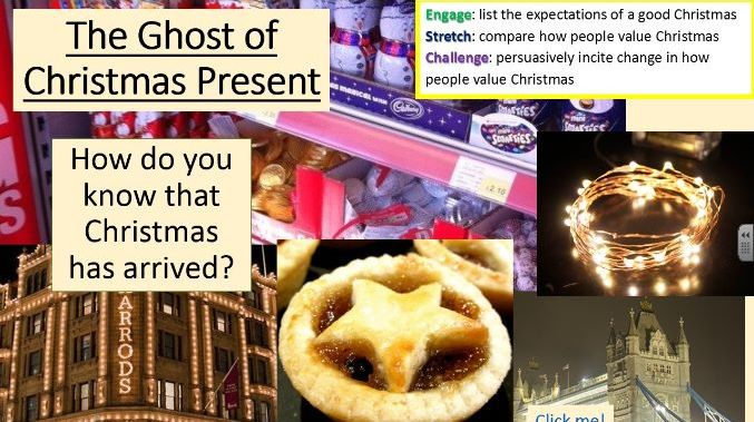 A Christmas Carol - The Ghost of Christmas Present; Persuasive Letter