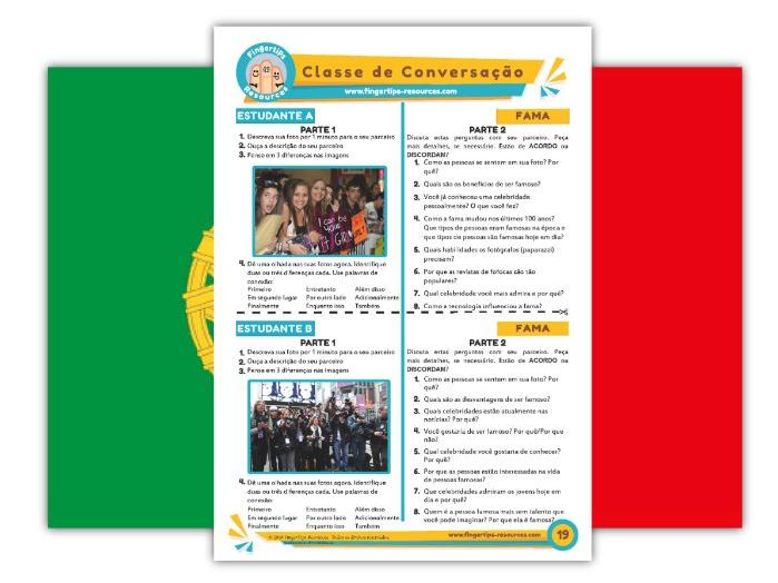 Fama - Portuguese Speaking Activity