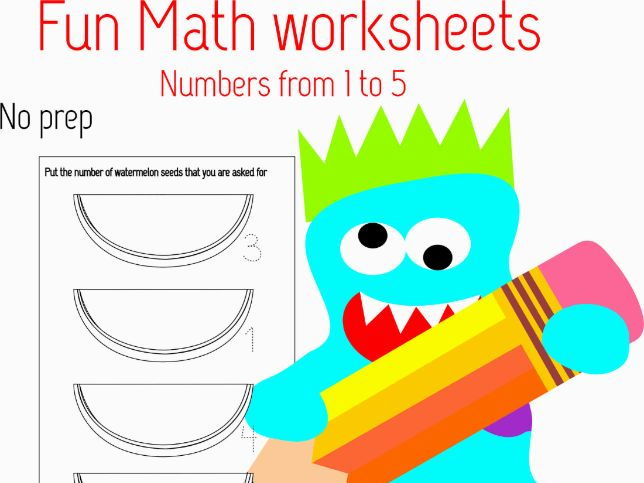 FUN MATHS WORKSHEETS. NUMBERS 1 TO 5. by paulinarl06 - Teaching ...