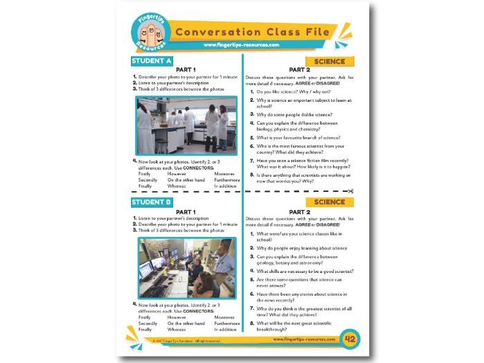 Science - ESL Conversation Activity
