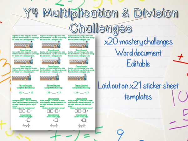x16 Y4 Multiplcation & Division Mastery Challenges