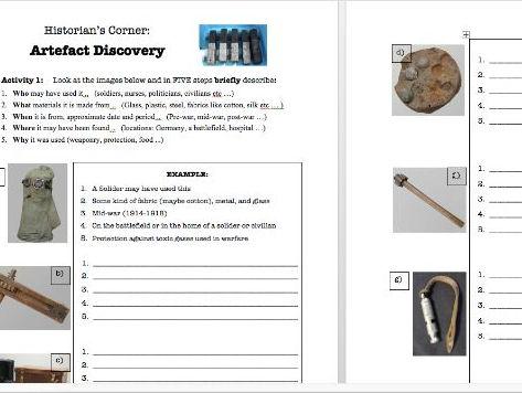 WW1 Artefact Discovery - Skill Development