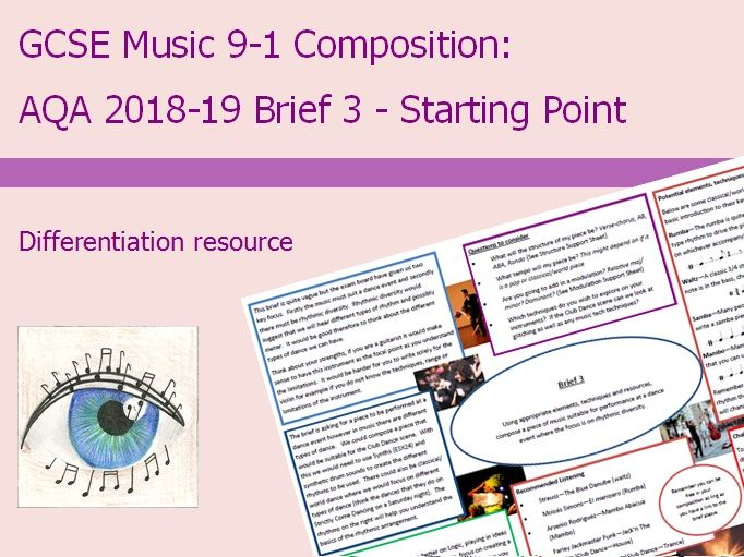 Music GCSE 9-1 Composition: 2018-2019 Brief 3 Starting Point