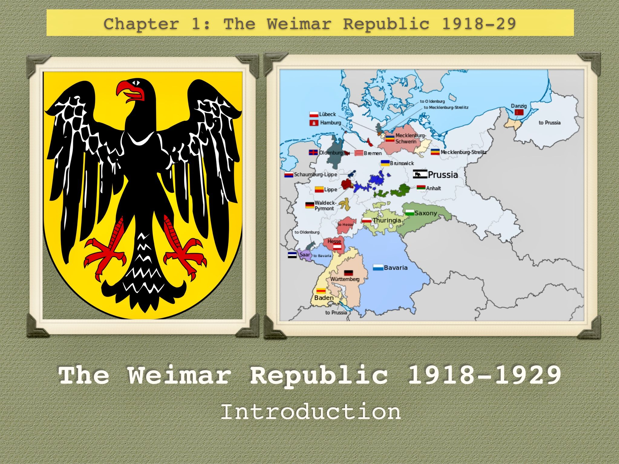 GCSE Weimar Republic Unit 1 1918-1929