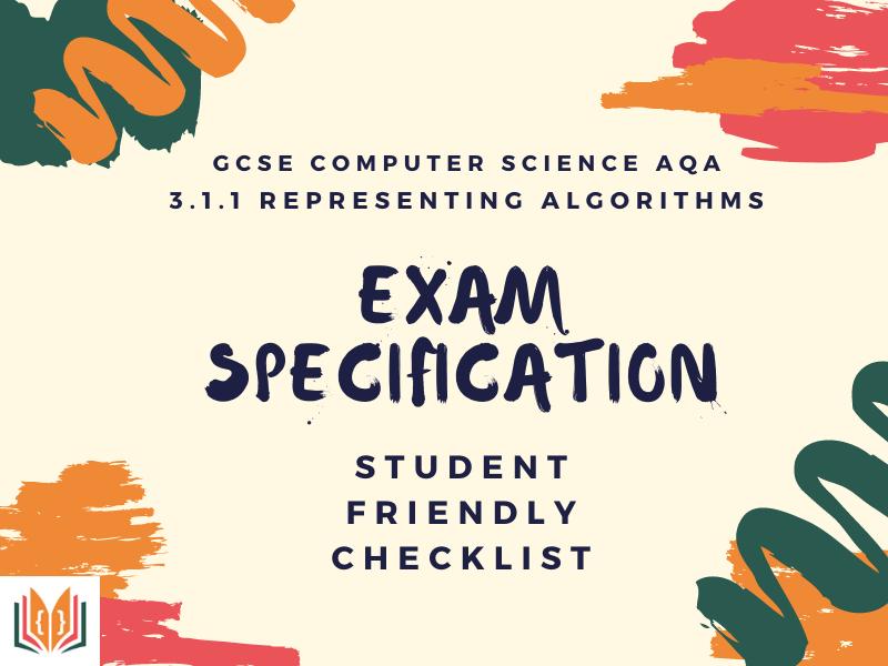 Representing Algorithms Spec | GCSE AQA