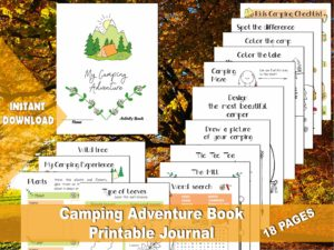 My Camping Adventure Activity and Coloring Book, Worksheets for Camp