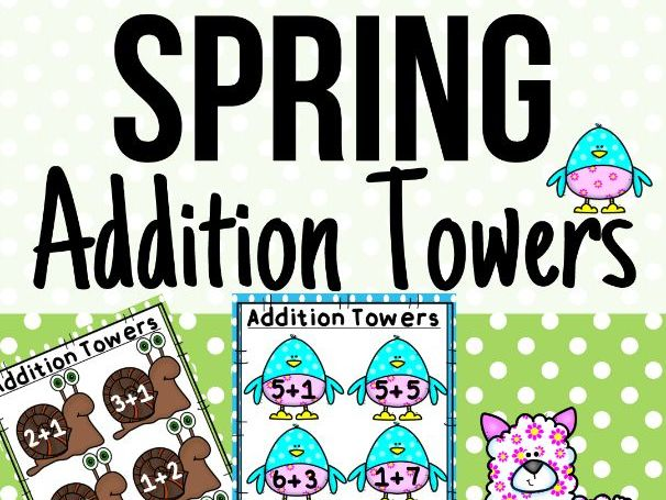 Spring Addition Towers Activity