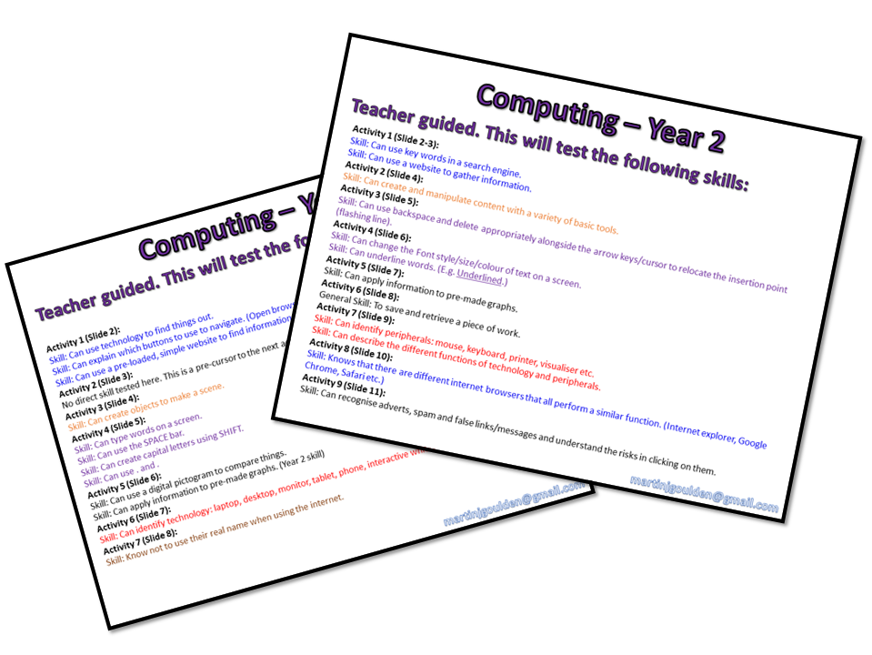 Computing Assessments: KS1 Bundle