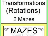 TRANSFORMATIONS: ROTATIONS - 2 MAZES