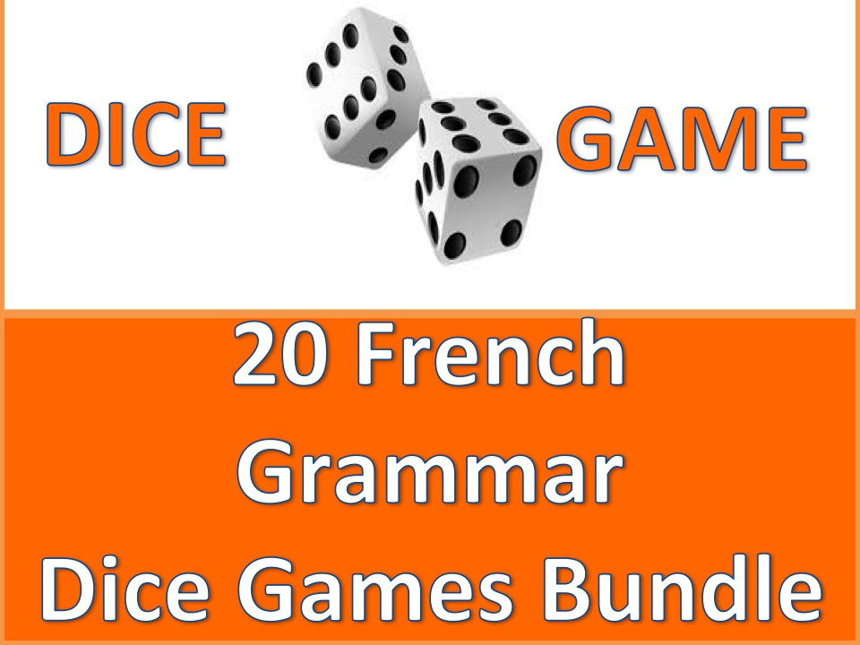 GCSE FRENCH: French Grammar Dice Games Bundle
