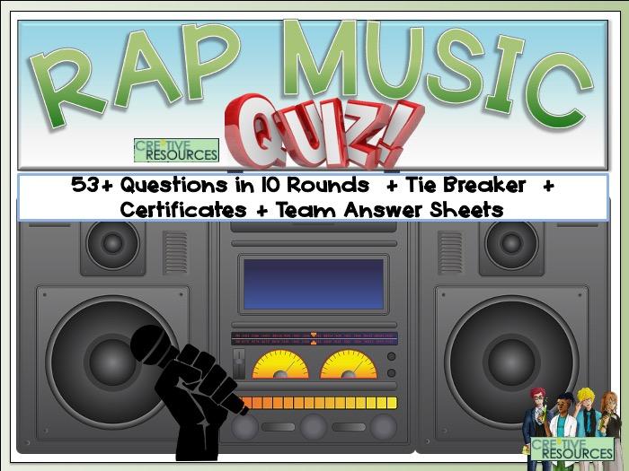 Rap and Hip Hop Quiz