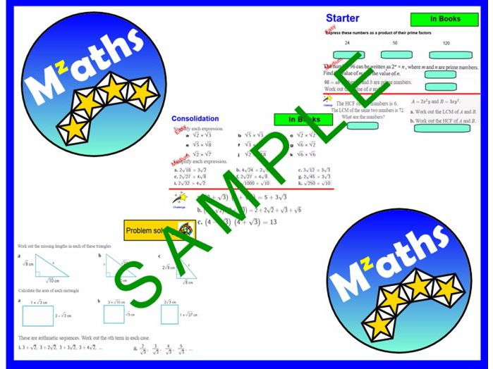 Surds - Simplifying/Multipying/Problem solving/Revision
