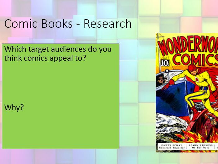 Introduction to Comics - Year 9 Media