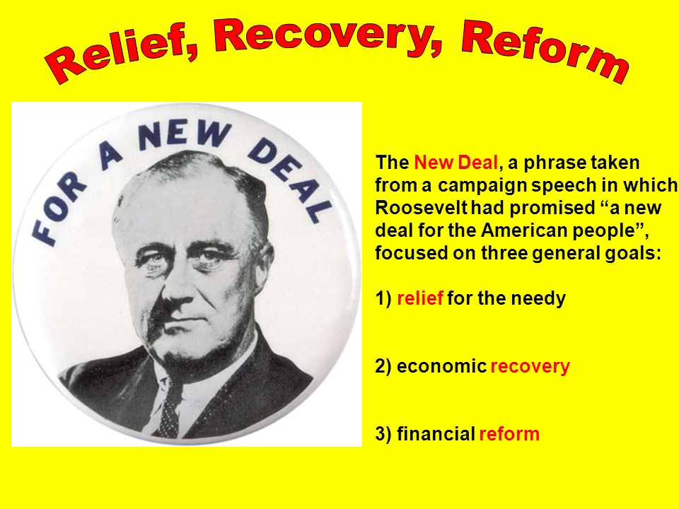 1st and 2nd New deal: GSCE History