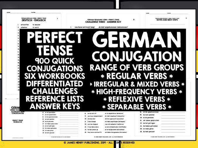 GERMAN PERFECT TENSE CONJUGATION WORKBOOKS