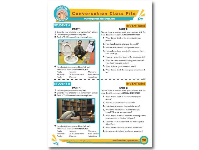 Inventions - ESL Conversation Activity