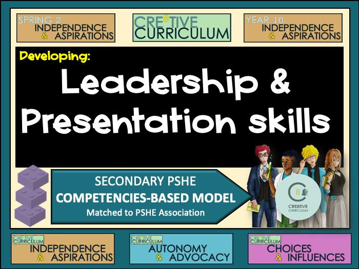 Goal setting, leadership + presentation skills: PSHE Builder