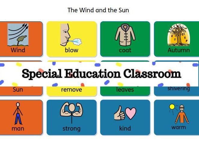 The Wind and the Sun sensory story (Aesop Fable) for Special Needs, Autism