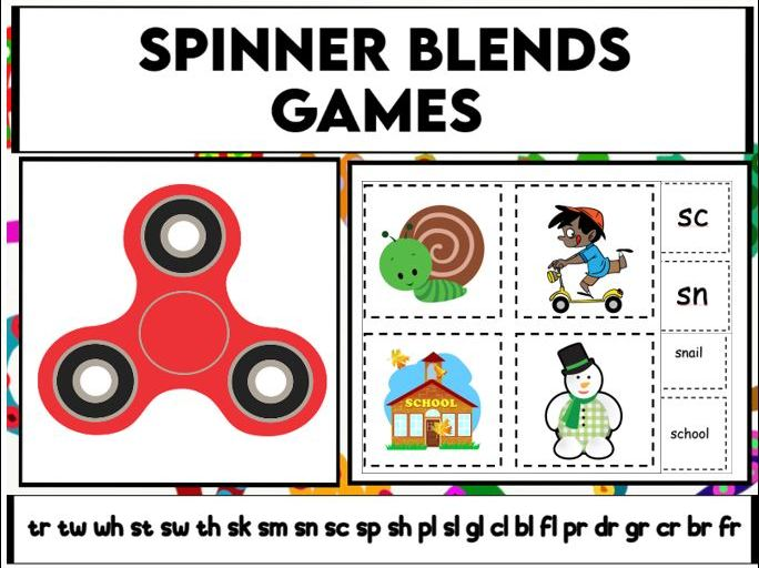 Spinner Blends Games KS1/ SEN