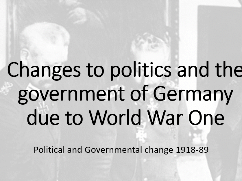 Edexcel Germany 1918-19: Effect of WW1