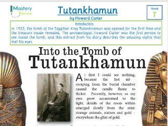 Tutankhamun's Tomb Comprehension by Howard Carter