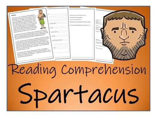 UKS2 History - Spartacus Reading Comprehension Activity