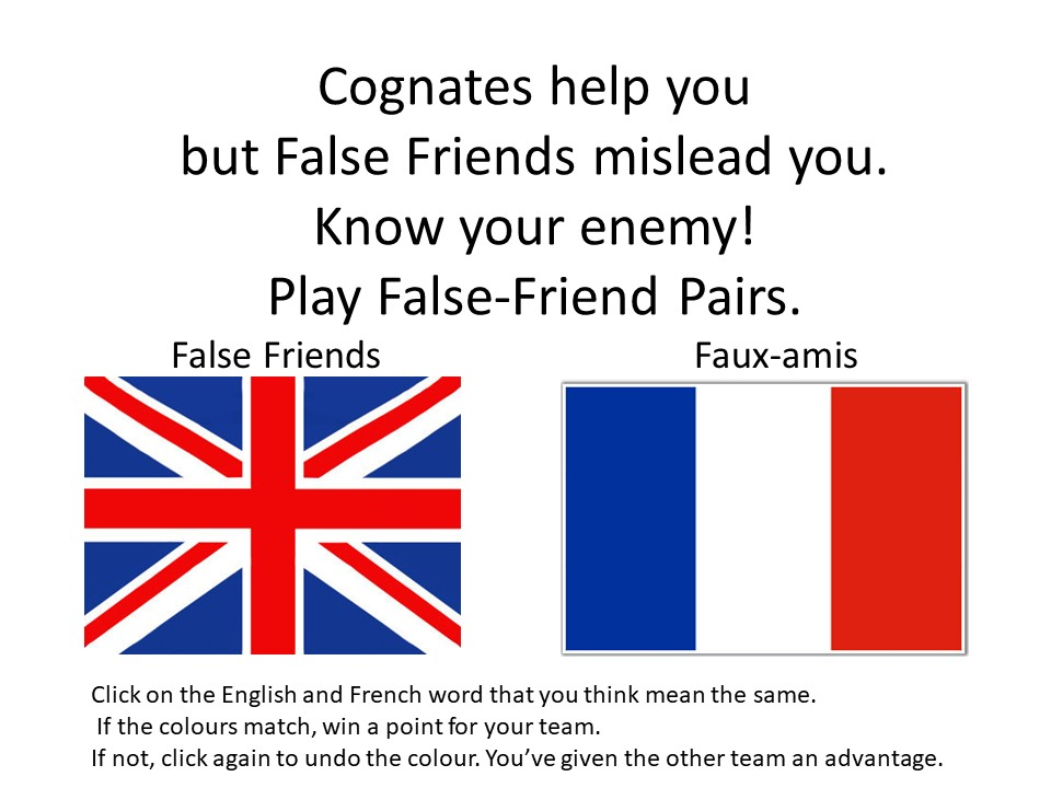 False Friend Pairs Interactive Powerpoint Game
