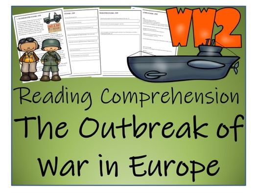 UKS2 World War 2 - The Outbreak of the War in Europe (1939) Reading Comprehension Activity - FREE