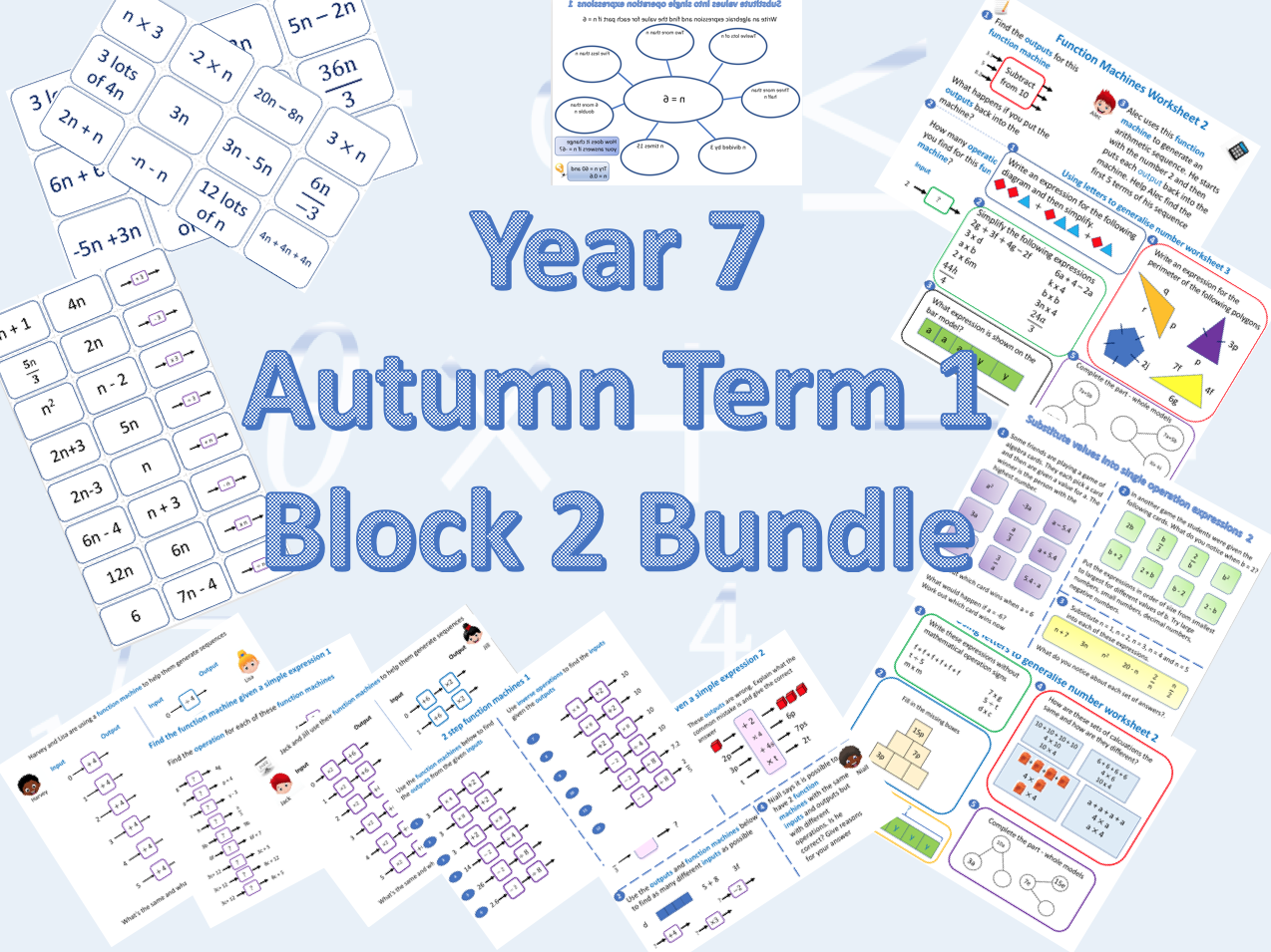 Bundle for White Rose Maths Secondary Autumn Term Block 2