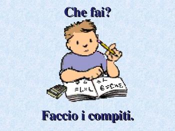 Fare Italian verb power point