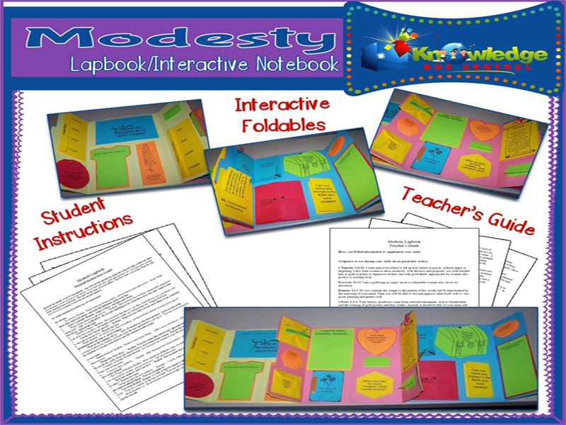 Modesty Lapbook
