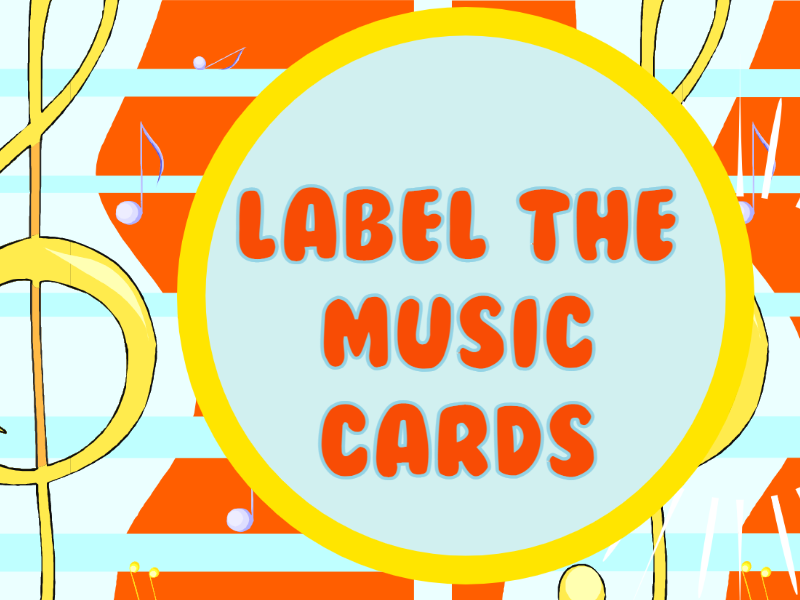 Music Cards to Label, Match and Colour