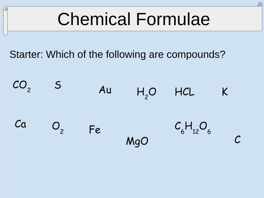 C2.4 Chemical Formula Activate 1 KS3