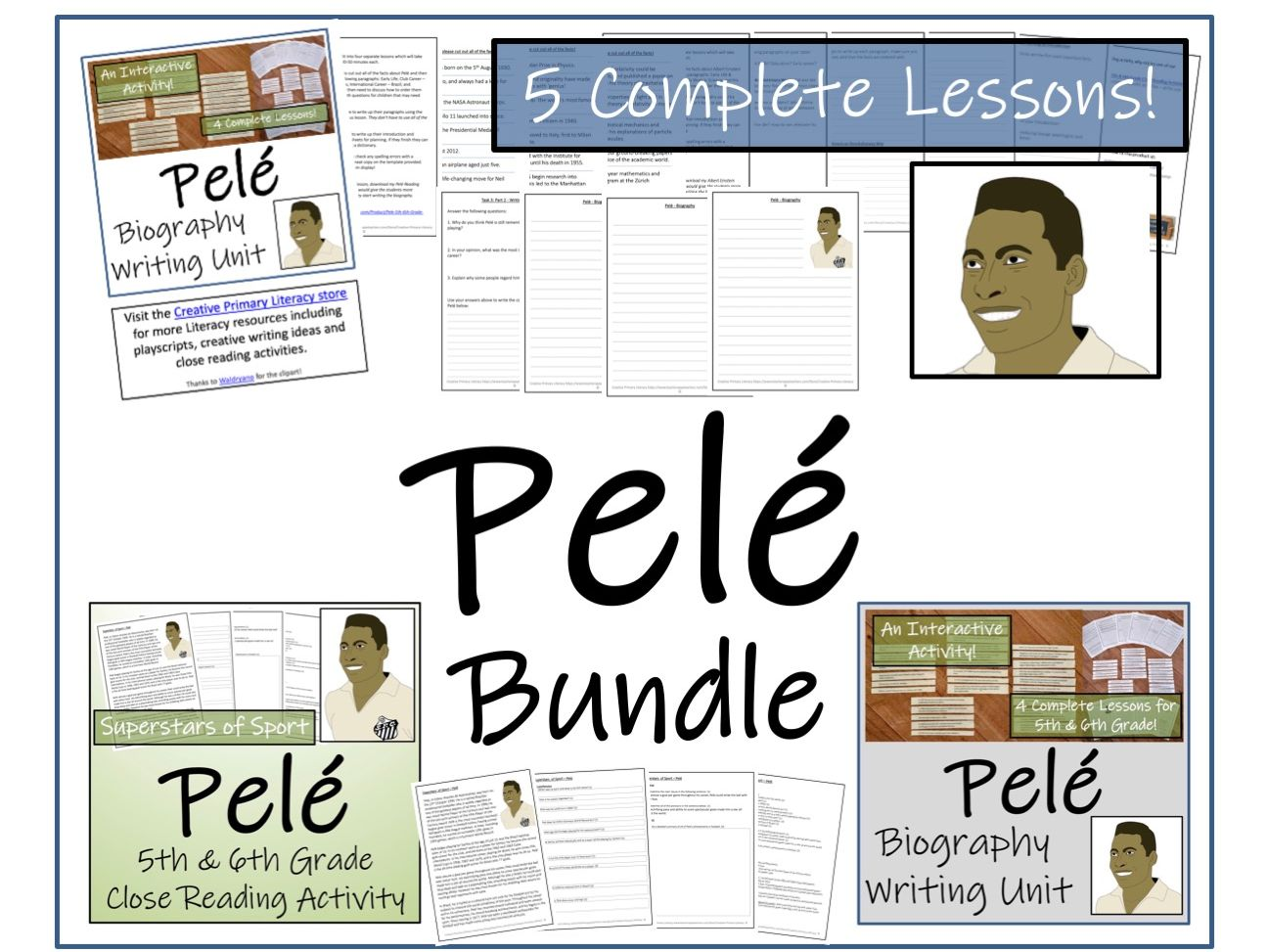 UKS2 Literacy - Bundle of Pele Activities