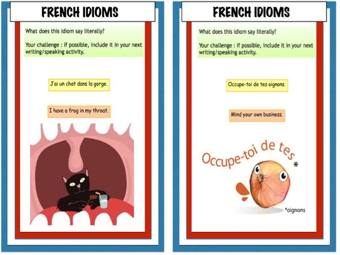 KS3/4/5 French idioms  & usefully expressions (more than 100!)