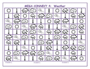 Weather Mega Connect 4 game