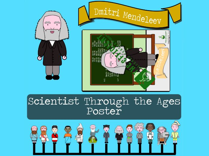 Dmitri Mendeleev - Scientists Throughout The Ages A3 Poster File