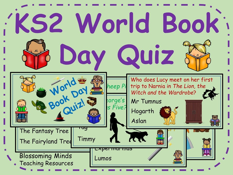 KS2 World Book Day Quiz  - 60 questions