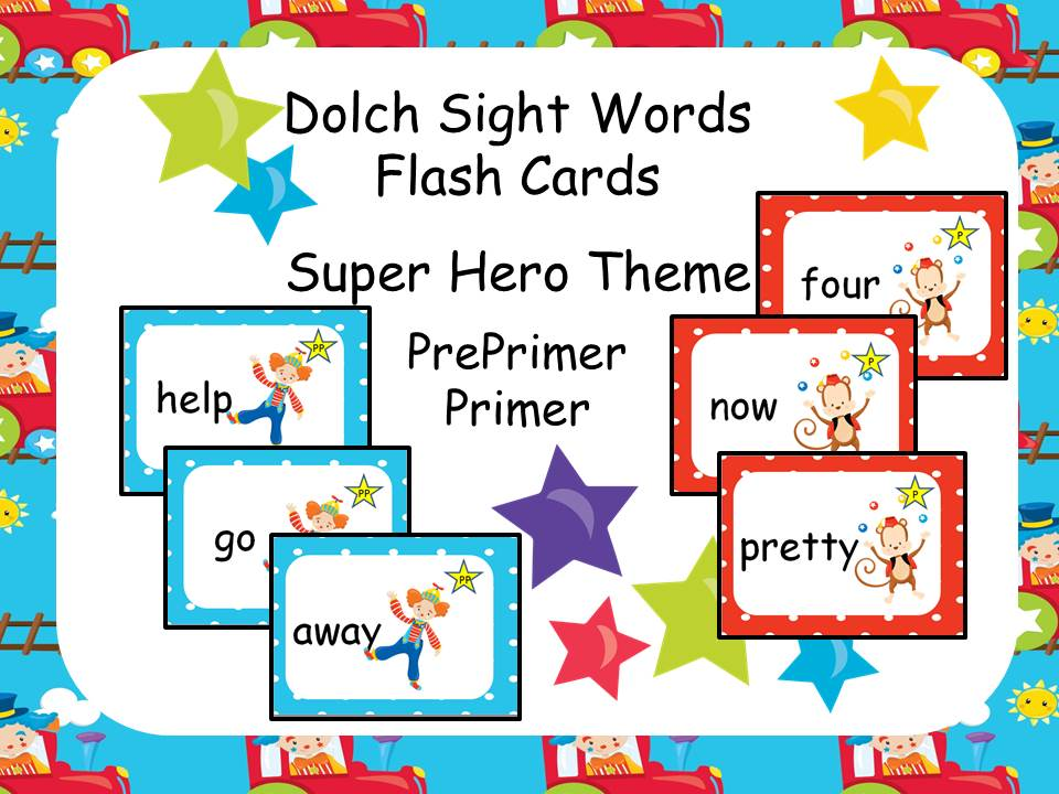 Dolch Sight Words - Circus Theme