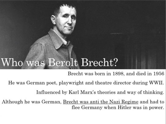 Berolt Brecht and Epic Theatre