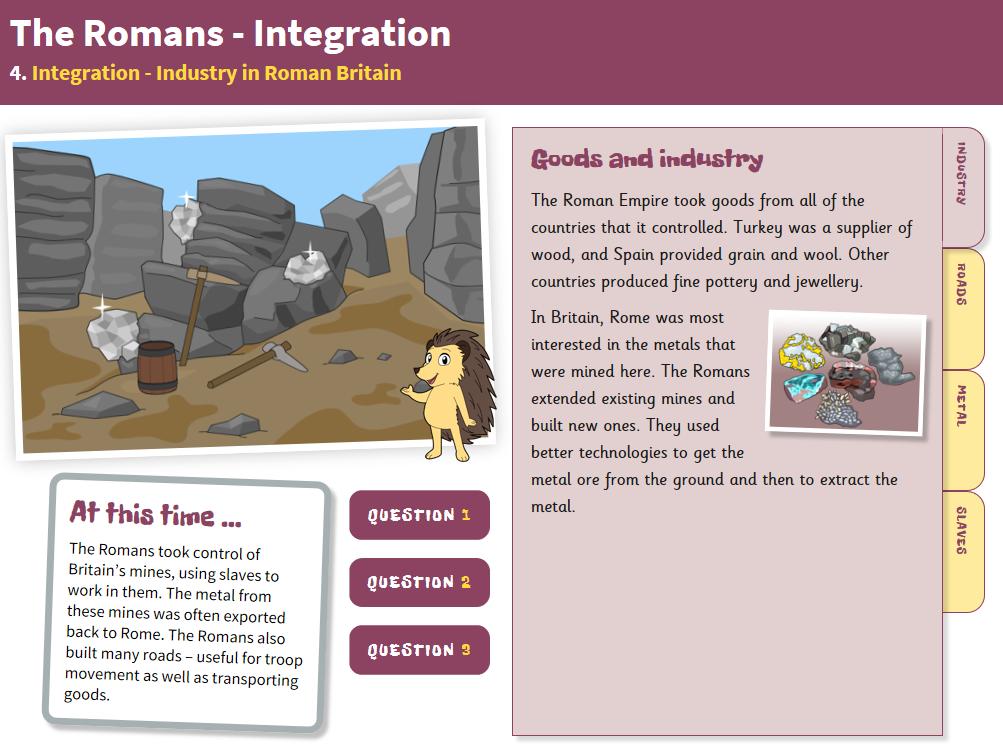 Industry - Interactive Teaching Book - Roman Britain KS2