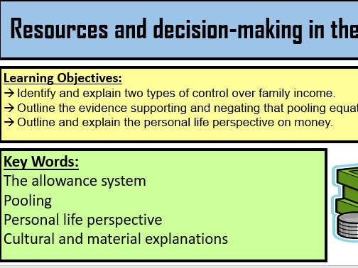 Resources and decision making