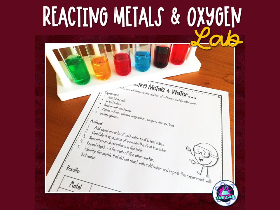 Reacting Metals & Air FREEBIE