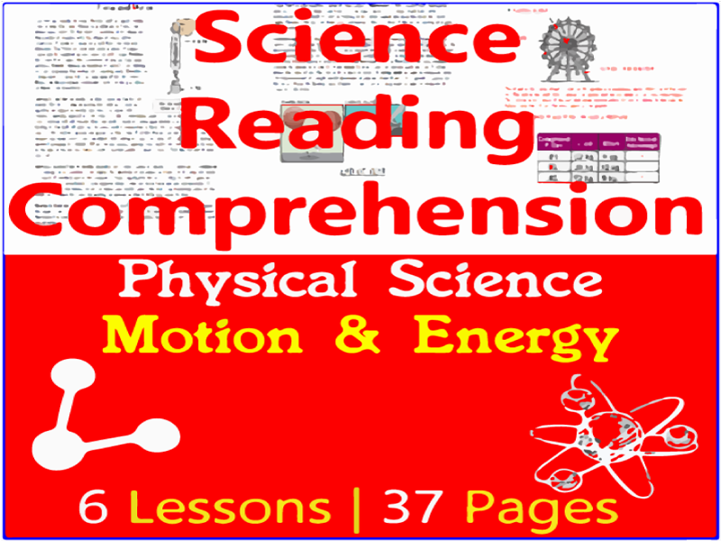 Physical Science Reading Comprehension Passages | Motion & Energy | Grade 5-6