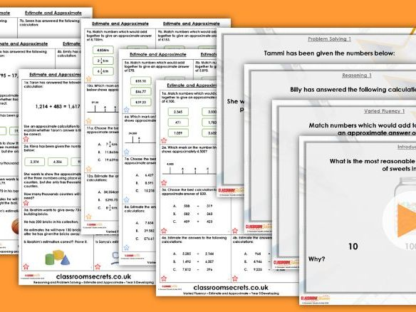 Year 5 Estimate and Approximate Autumn Block 2 Step 3 Maths Lesson Pack