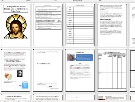 The Person of Jesus Christ Workbook