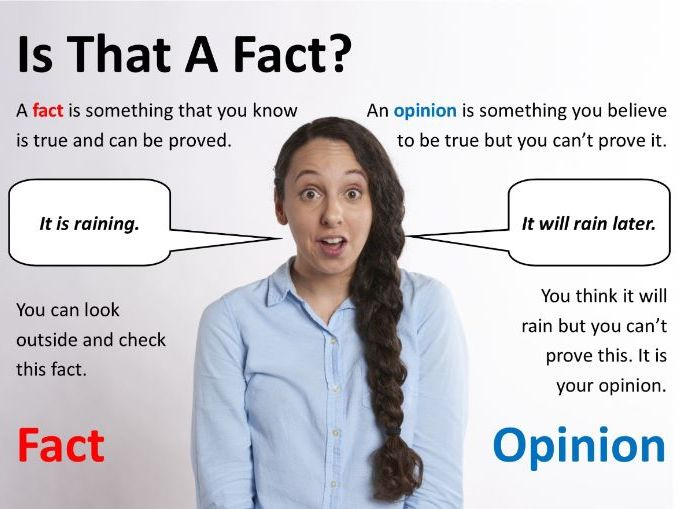 Fact vs Opinion activity and display